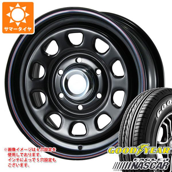 SS ブラック デイトナ サマータイヤ タイヤホイール4本セット #1 イーグル 7.0-16 ナスカー グッドイヤー ホワイトレター 215/65R16 109/107R