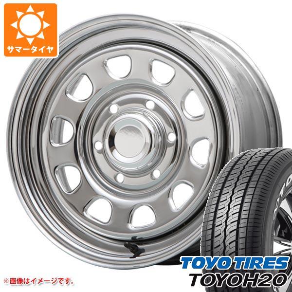 サマータイヤ 215/65R16 109/107R トーヨー H20 ホワイトレター デイトナ SS クローム 7.0-16 タイヤホイール4本セット