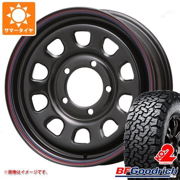 正規品 ジムニーシエラ専用 サマータイヤ BFグッドリッチ オールテレーン T/A KO2 LT215/70R16 100/97R ホワイトレター デイトナ SS ブラック 6.0-16 タイヤホイール4本セット