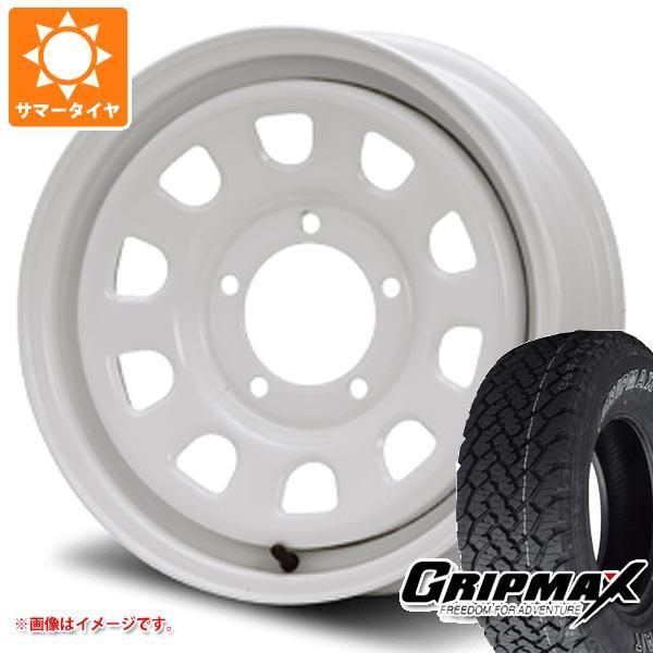 ジムニー専用 サマータイヤ グリップマックス グリップマックス A/T 215/70R16 100T アウトラインホワイトレター デイトナ SS オールホワイト 5.5-16 タイヤホイール4本セット