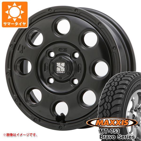 サマータイヤ 185R14 102/100Q 8PR マキシス MT-753 ブラボーシリーズ ブラックサイドウォール エクストリームJ KK03 軽カー専用 4.5-14 タイヤホイール4本セット