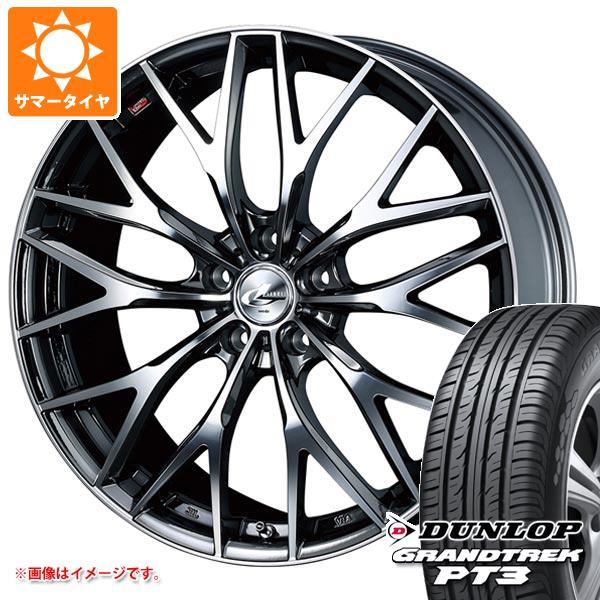 サマータイヤ 235/55R19 101V ダンロップ グラントレック PT3 レオニス MX BMCミラーカット 8.0-19 タイヤホイール4本セット