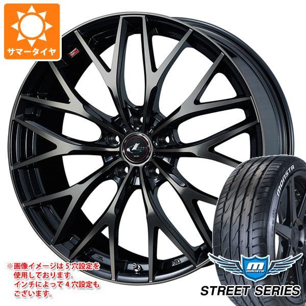 サマータイヤ 215/40R17 88V XL モンスタ ストリートシリーズ ホワイトレター レオニス MX PBMC/TI 6.5-17 タイヤホイール4本セット
