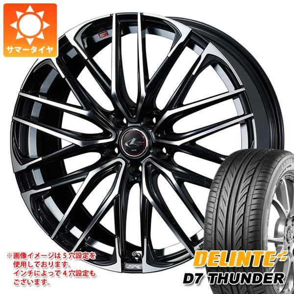 サマータイヤ 215/35R19 85W XL デリンテ D7 サンダー レオニス SK PBミラーカット 8.0-19 タイヤホイール4本セット