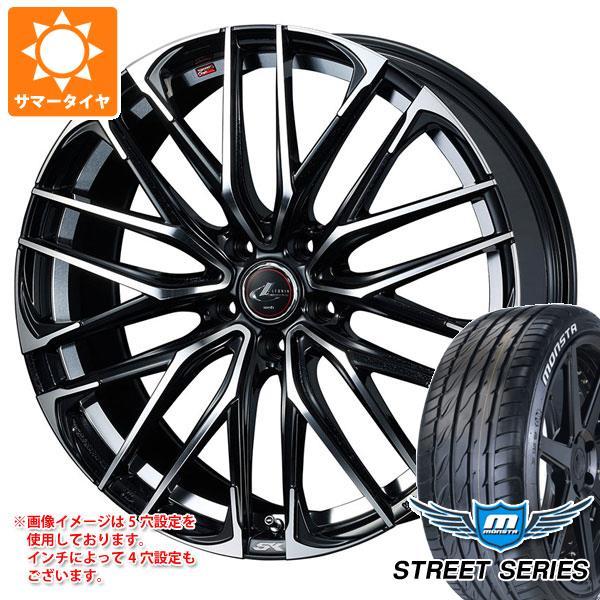 サマータイヤ 215/45R17 92V XL モンスタ ストリートシリーズ ホワイトレター レオニス SK PBミラーカット 7.0-17 タイヤホイール4本セット