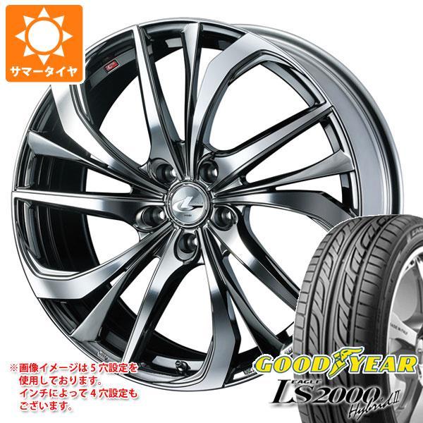 サマータイヤ 165/50R16 75V グッドイヤー イーグル LS2000 ハイブリッド2 レオニス TE BMCミラーカット 5.0-16 タイヤホイール4本セット