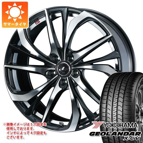 サマータイヤ 235/55R19 105W XL ヨコハマ ジオランダー X-CV G057 レオニス TE PBミラーカット 8.0-19 タイヤホイール4本セット