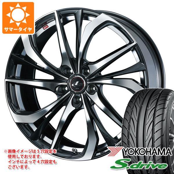 サマータイヤ 165/45R16 74V REINF ヨコハマ DNA S.ドライブ ES03N レオニス TE PBミラーカット 5.0-16 タイヤホイール4本セット