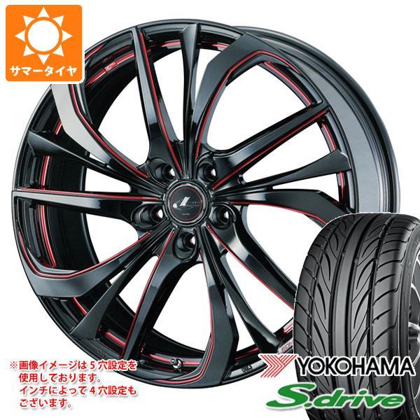 サマータイヤ 165/40R16 70V REINF ヨコハマ DNA S.ドライブ ES03N レオニス TE BK/SC レッド 5.0-16 タイヤホイール4本セット