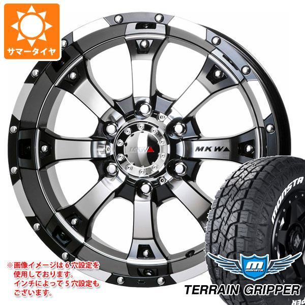 サマータイヤ 265/60R18 114T XL モンスタ テレーングリッパー ホワイトレター MKW MK-46 8.5-18 タイヤホイール4本セット