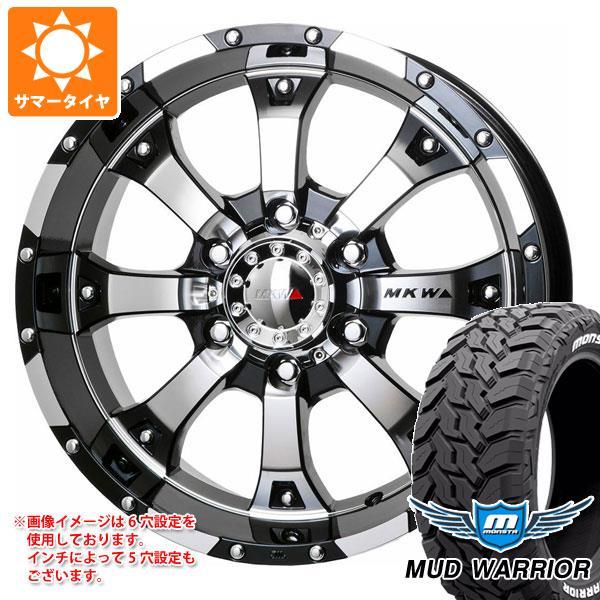 サマータイヤ 265/60R18 119/116Q モンスタ マッドウォーリアー ホワイトレター MK-46 DCGB 8.5-18 タイヤホイール4本セット