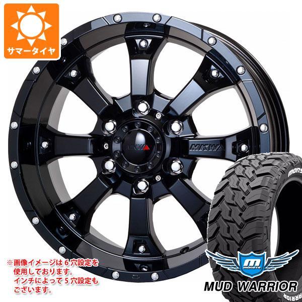 サマータイヤ 265/65R17 120/117Q モンスタ マッドウォーリアー ホワイトレター MKW MK-46 8.0-17 タイヤホイール4本セット