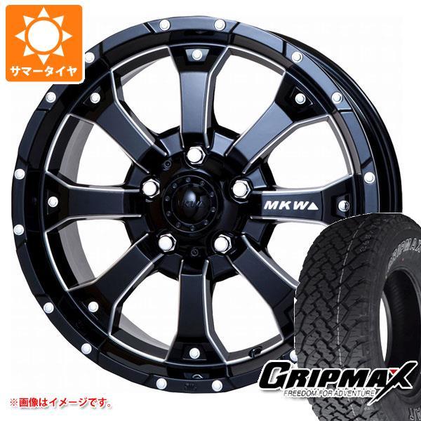サマータイヤ 215/70R16 100T グリップマックス グリップマックス A/T アウトラインホワイトレター MK-46 M/L+ MB ジムニー専用 5.5-16 タイヤホイール4本セット