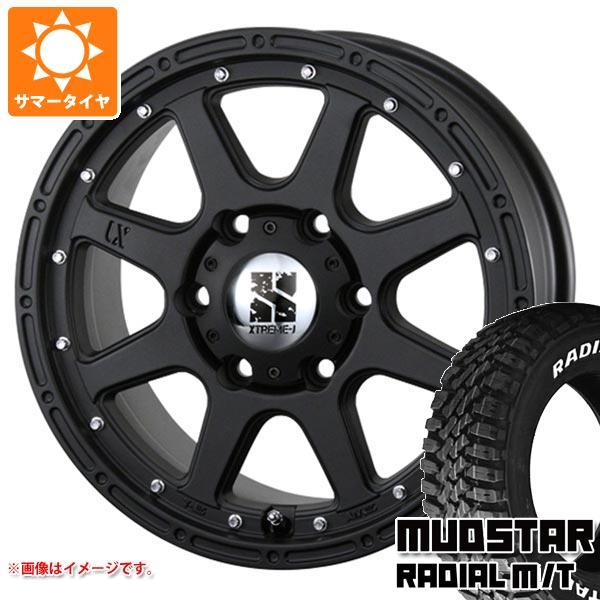 サマータイヤ 215/70R16 100T マッドスター ラジアル M/T ホワイトレター エクストリームJ 7.0-16 タイヤホイール4本セット