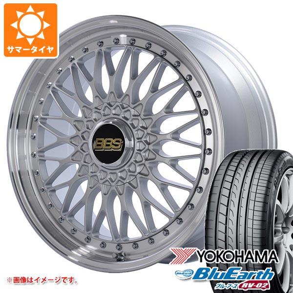 完成品 サマータイヤ 245/35R20 95W XL ヨコハマ ブルーアース RV-02 BBS SUPER-RS 8.5-20 タイヤホイール4本セット, タイムマシーン 088978d8