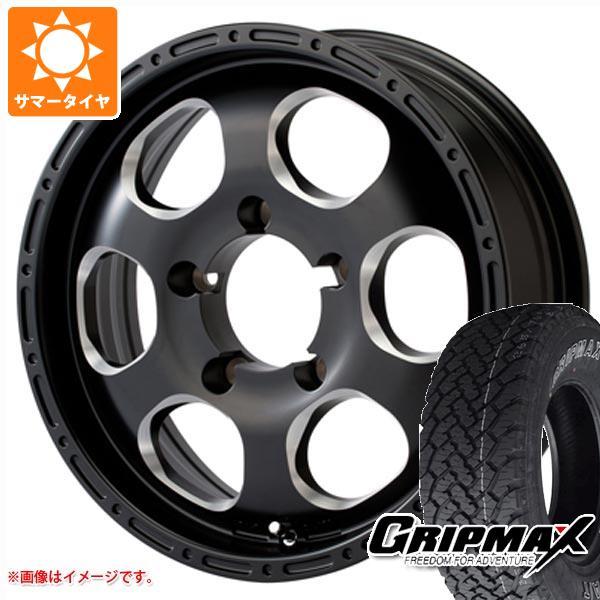 ジムニー専用 サマータイヤ グリップマックス グリップマックス A/T 215/70R16 100T アウトラインホワイトレター ブラッドストック ワンピース 5.5-16 タイヤホイール4本セット