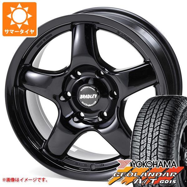サマータイヤ 265/65R17 112H ヨコハマ ジオランダー A/T G015 ブラックレター ブラッドレー パイ 8.0-17 タイヤホイール4本セット