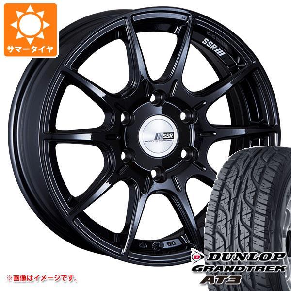 ハイエース 200系専用 サマータイヤ ダンロップ グラントレック AT3 215/70R16 100S ブラックレター SSR ディバイド X01H 6.5-16 タイヤホイール4本セット