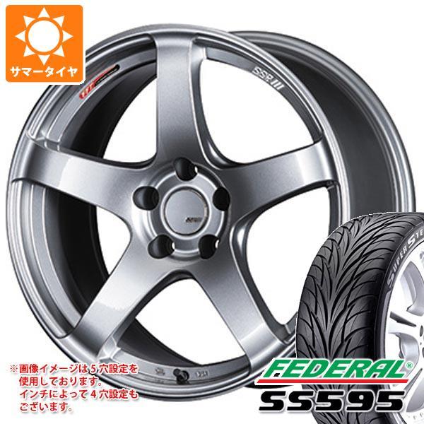 【在庫一掃】 サマータイヤ 235/40R18 91W フェデラル SS595 SSR GTV01 7.5-18 タイヤホイール4本セット, エイワン 1b4421fc