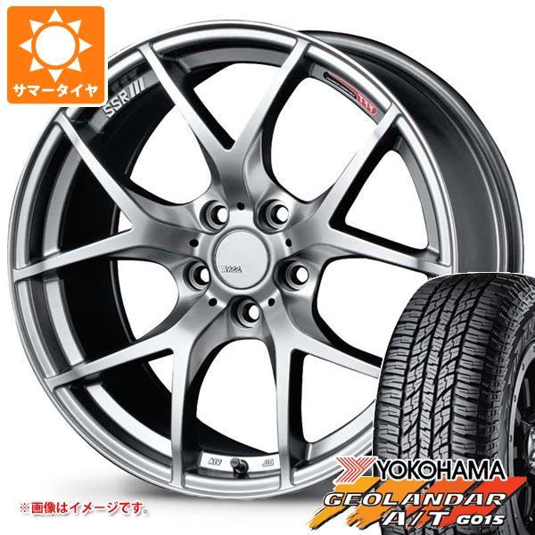 サマータイヤ 235/55R18 104H XL ヨコハマ ジオランダー A/T G015 ブラックレター SSR GTV03 7.5-18 タイヤホイール4本セット
