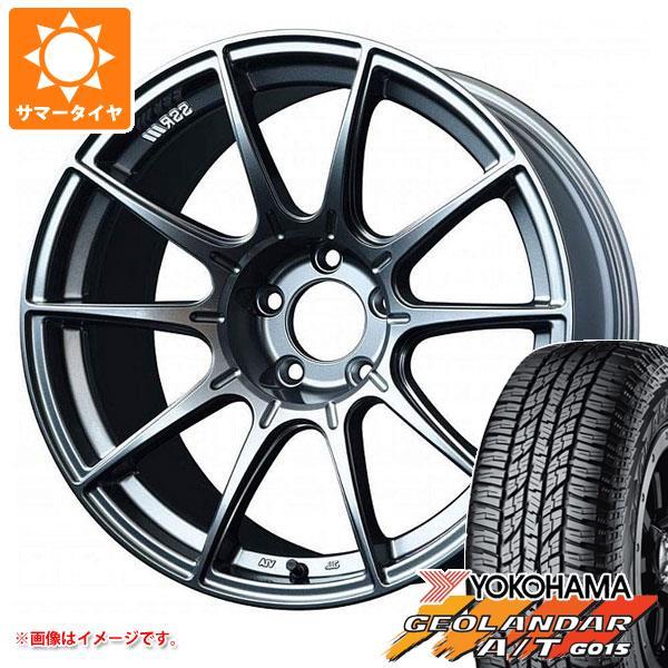 サマータイヤ 235/55R18 104H XL ヨコハマ ジオランダー A/T G015 ブラックレター SSR GTX01 8.0-18 タイヤホイール4本セット