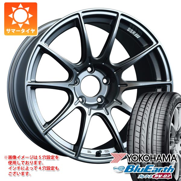 サマータイヤ 165/55R15 75V ヨコハマ ブルーアース RV-02CK SSR GTX01 5.0-15 タイヤホイール4本セット