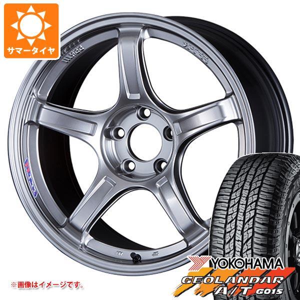 サマータイヤ 235/55R18 104H XL ヨコハマ ジオランダー A/T G015 ブラックレター SSR GTX03 8.0-18 タイヤホイール4本セット