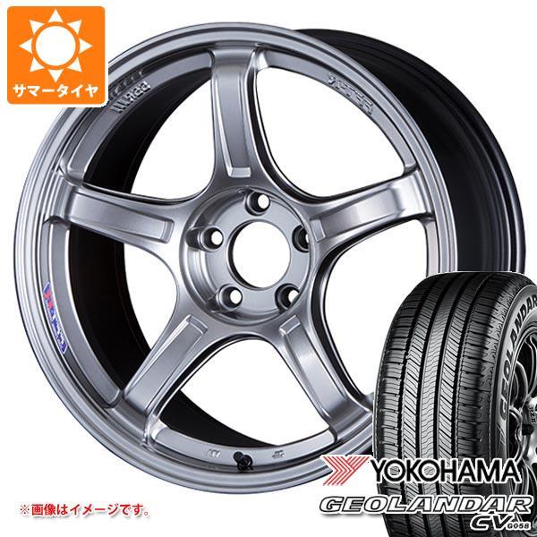 サマータイヤ 235/55R18 100V ヨコハマ ジオランダー CV SSR GTX03 8.0-18 タイヤホイール4本セット
