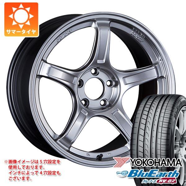 サマータイヤ 165/55R15 75V ヨコハマ ブルーアース RV-02CK SSR GTX03 5.0-15 タイヤホイール4本セット