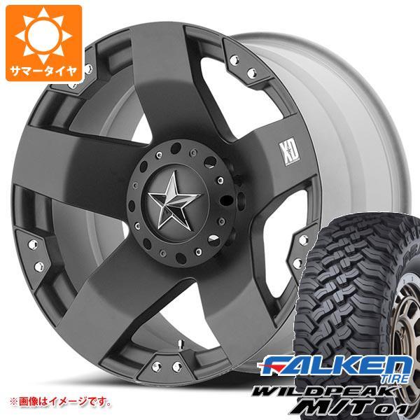サマータイヤ 265/70R17 121/118Q ファルケン ワイルドピーク M/T01 KMC XD775 ロックスター 8.0-17 タイヤホイール4本セット