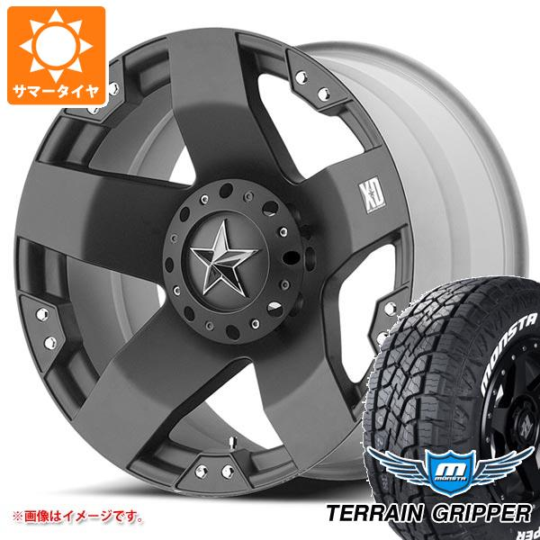 サマータイヤ 275/55R20 120/117Q モンスタ テレーングリッパー ホワイトレター KMC XD775 ロックスター 8.5-20 タイヤホイール4本セット