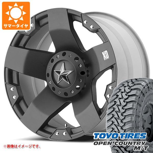サマータイヤ 265/70R17 121P トーヨー オープンカントリー M/T ブラックレター KMC XD775 ロックスター 8.0-17 タイヤホイール4本セット