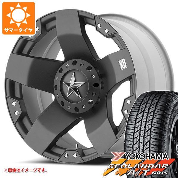 サマータイヤ 285/55R20 122/119S ヨコハマ ジオランダー A/T G015 ブラックレター KMC XD775 ロックスター 8.5-20 タイヤホイール4本セット