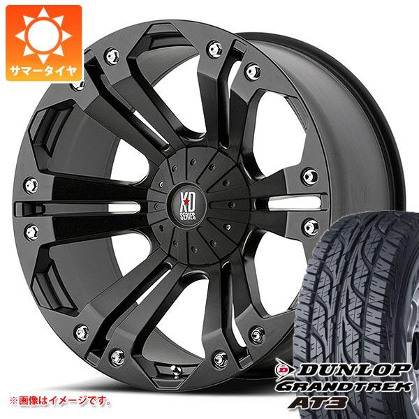 サマータイヤ 265/60R18 110H ダンロップ グラントレック AT3 ブラックレター KMC XD778 モンスター 9.0-18 タイヤホイール4本セット