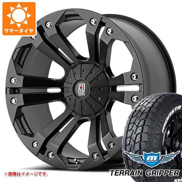 サマータイヤ 285/55R20 122/119Q モンスタ テレーングリッパー ホワイトレター KMC XD778 モンスター 9.0-20 タイヤホイール4本セット