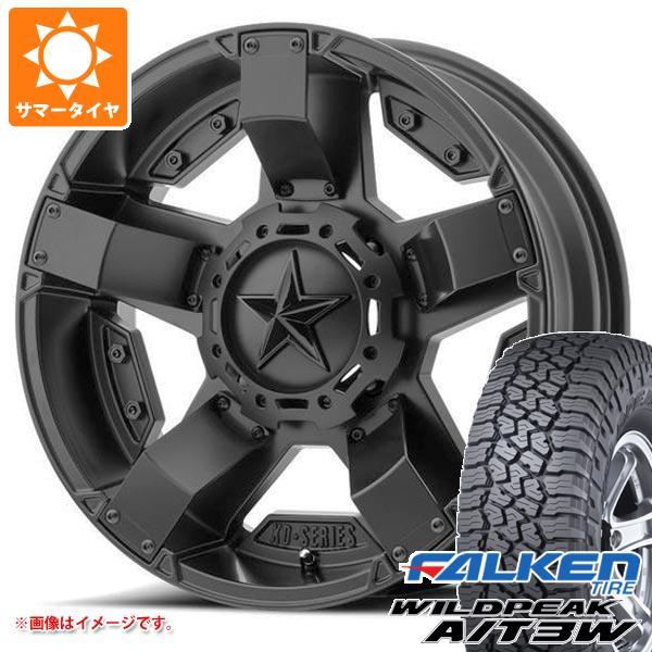 サマータイヤ 285/55R20 122/119Q ファルケン ワイルドピーク A/T3W KMC XD811 ロックスター2 8.5-20 タイヤホイール4本セット