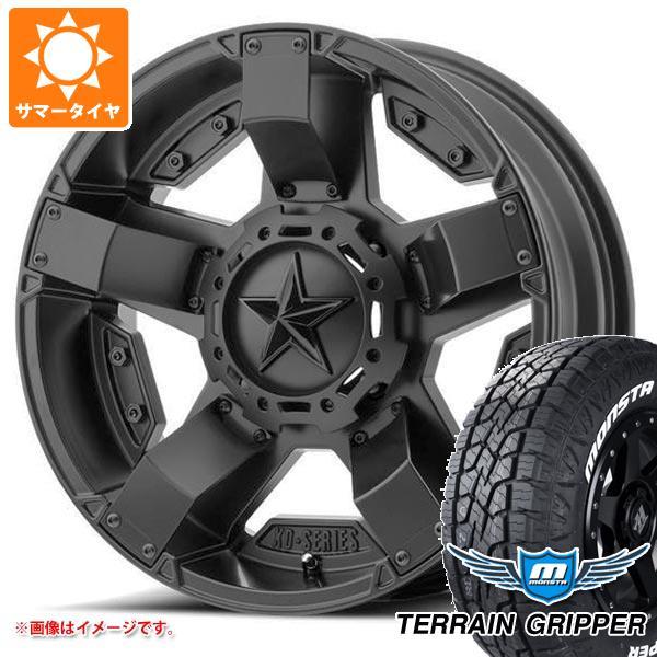 サマータイヤ 285/70R17 121/118R モンスタ テレーングリッパー ホワイトレター KMC XD811 ロックスター2 8.0-17 タイヤホイール4本セット
