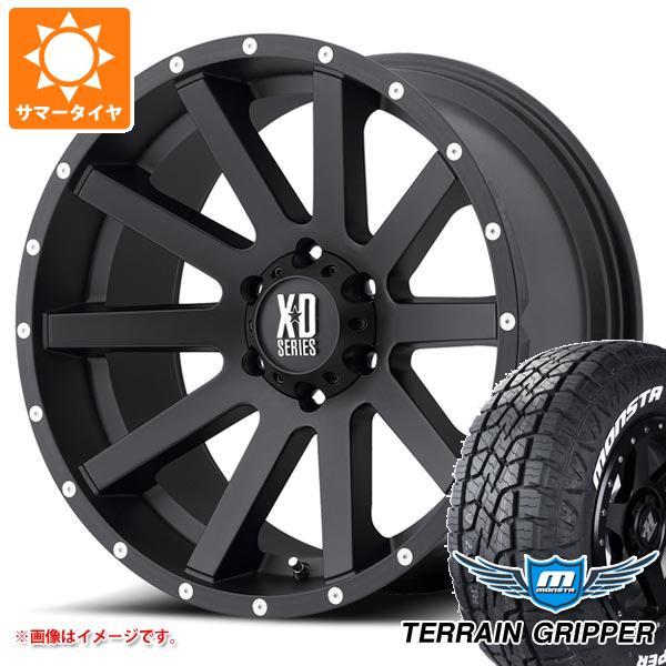 サマータイヤ 285/70R17 121/118R モンスタ テレーングリッパー ホワイトレター KMC XD818 ヘイスト 8.0-17 タイヤホイール4本セット