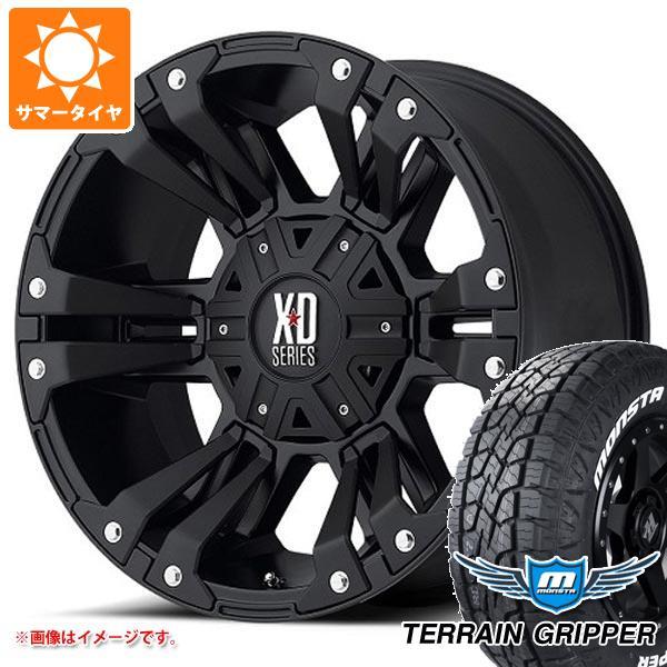 サマータイヤ 285/70R17 121/118R モンスタ テレーングリッパー ホワイトレター KMC XD822 モンスター2 9.0-17 タイヤホイール4本セット