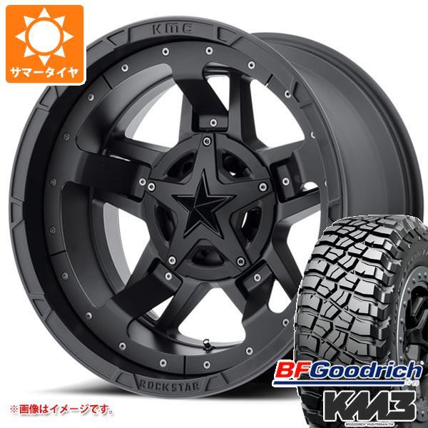 正規品 サマータイヤ 265/70R17 121/118Q BFグッドリッチ マッドテレーン T/A KM3 ブラックレター KMC XD827 ロックスター3 8.0-17 タイヤホイール4本セット