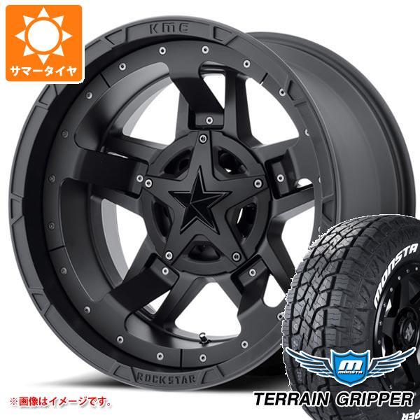 サマータイヤ 285/55R20 122/119Q モンスタ テレーングリッパー ホワイトレター KMC XD827 ロックスター3 9.0-20 タイヤホイール4本セット