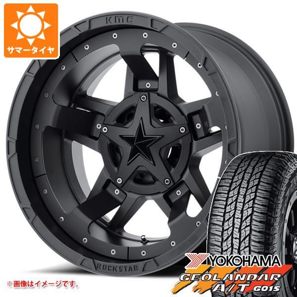 サマータイヤ 265/60R18 119/116S ヨコハマ ジオランダー A/T G015 アウトラインホワイトレター KMC XD827 ロックスター3 9.0-18 タイヤホイール4本セット
