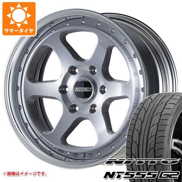 ハイエース 200系専用 サマータイヤ ニットー NT555 G2 225/45R19 96Y XL エセックス EL 2P 8.0-19 タイヤホイール4本セット
