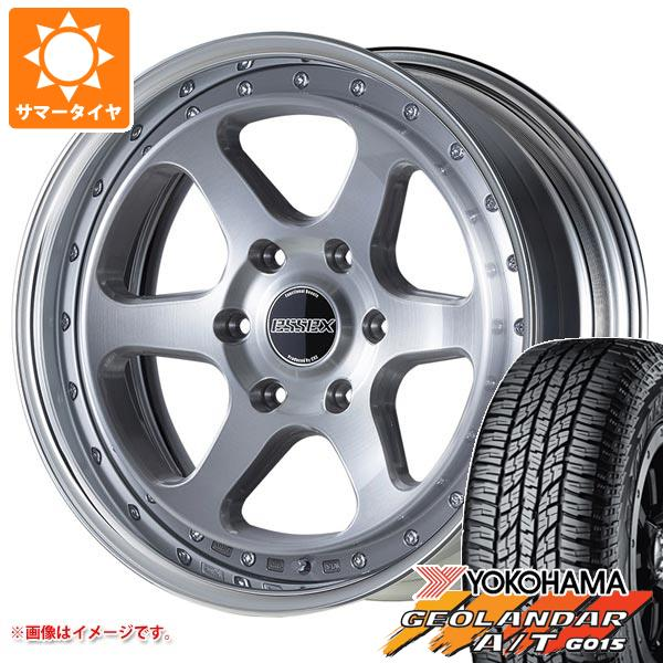 ハイエース 200系専用 サマータイヤ ヨコハマ ジオランダー A/T G015 215/70R16 100H ブラックレター エセックス EL 2P 6.5-16 タイヤホイール4本セット