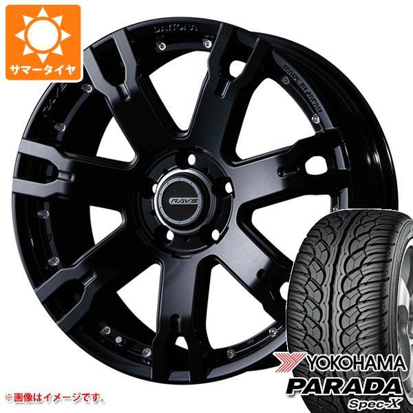 サマータイヤ 235/55R18 100V ヨコハマ パラダ スペック-X PA02 レイズ デイトナ FDX F7S 7.5-18 タイヤホイール4本セット