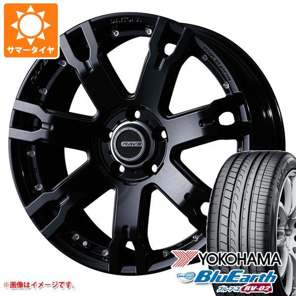 サマータイヤ 225/55R18 98V ヨコハマ ブルーアース RV-02 レイズ デイトナ FDX F7S 7.5-18 タイヤホイール4本セット