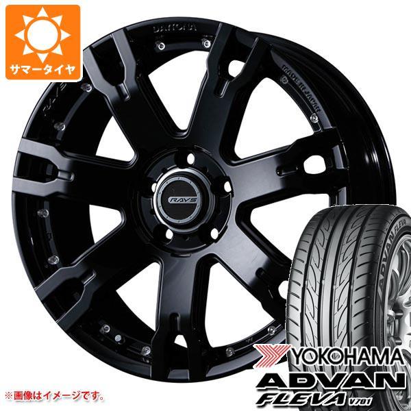サマータイヤ 235/55R18 100V ヨコハマ アドバン フレバ V701 レイズ デイトナ FDX F7S BT 7.5-18 タイヤホイール4本セット