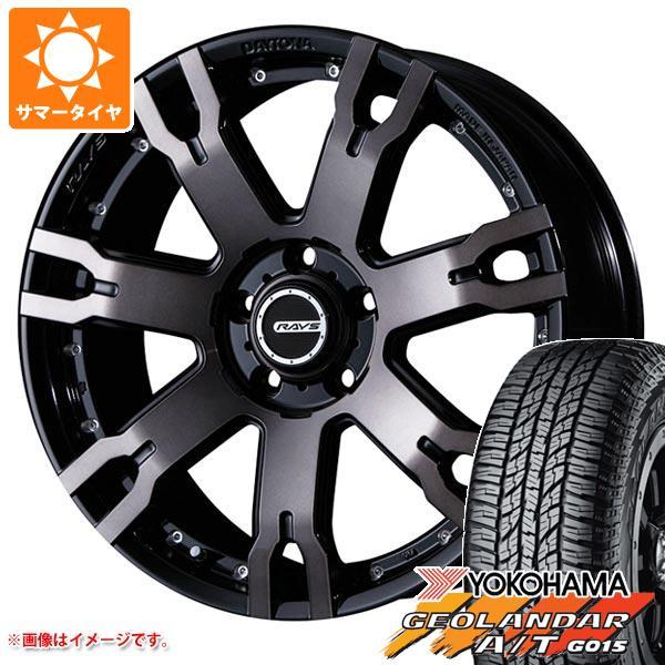 サマータイヤ 235/55R18 104H XL ヨコハマ ジオランダー A/T G015 ブラックレター レイズ デイトナ FDX F7S KZ 7.5-18 タイヤホイール4本セット