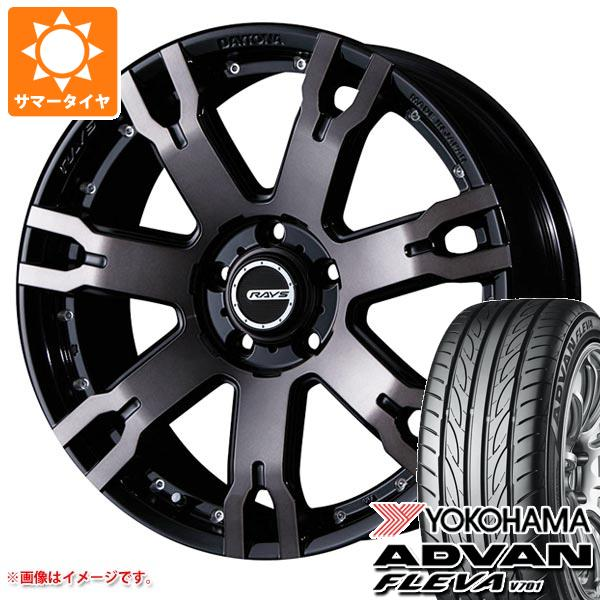 サマータイヤ 235/55R18 100V ヨコハマ アドバン フレバ V701 レイズ デイトナ FDX F7S KZ 7.5-18 タイヤホイール4本セット