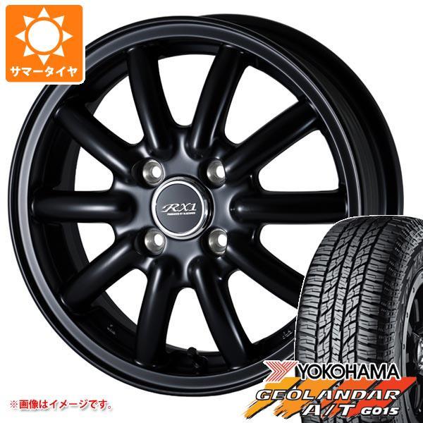 サマータイヤ 165/60R15 77H ヨコハマ ジオランダー A/T G015 ブラックレター ドゥオール フェニーチェ RX1 5.0-15 タイヤホイール4本セット